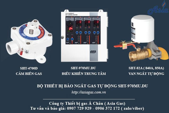 Bộ thiết bị báo ngắt gas tự động Sunghwa Hàn Quốc chất lượng tốt SHT-970MU.DU kết nối 1 đến 16 cảm biến