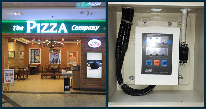 Lắp đặt hệ thống báo ngắt gas tự động The Pizza Company