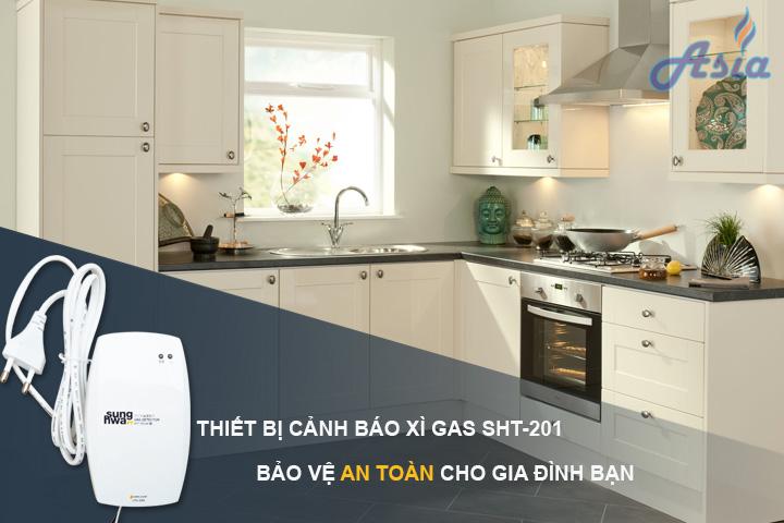 Thiết bị cảnh báo xì gas bếp gia đình SHT-201