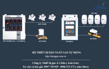 Bộ thiết bị báo ngắt gas tự động Sunghwa Hàn Quốc chất lượng tốt