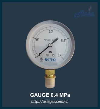 Áp kế đo áp suất gas ITO 0.4 MPa
