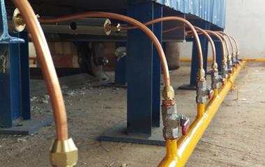 Thi công hệ thống gas cho lò đốt - Nhà máy Pearl Salt