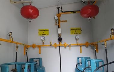 Thi công hệ thống gas & hệ thống báo ngắt gas tự động
